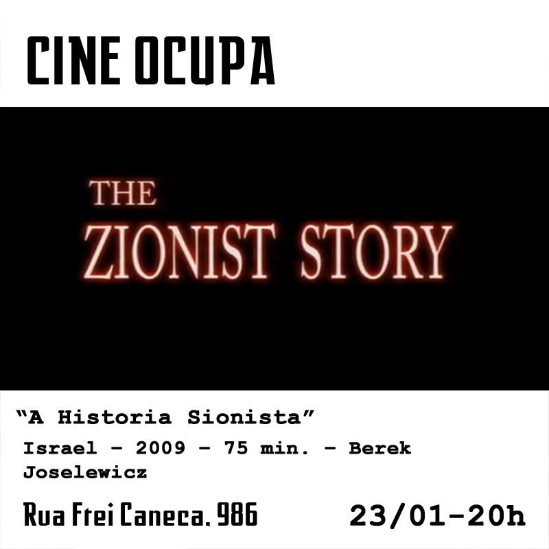 cartaz cine historia sionista